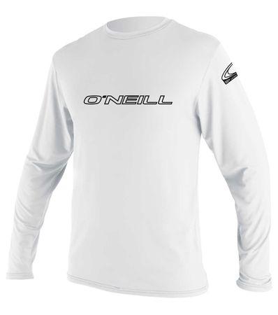 O'Neill - Basic Skins L/S Rashguard (Herren) - white - UV Shirt – Bild 1