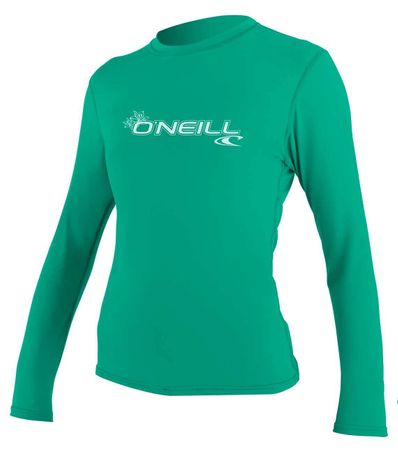 O'Neill - Basic Skins L/S Rash Tee (Damen) - seaglass - UV Shirt – Bild 1