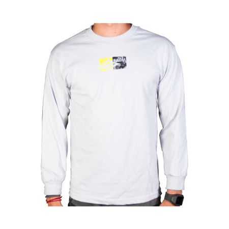 Naish - Boxes Grey Shirt (Langarm - T-Shirt)  – Bild 1