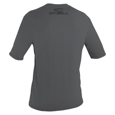 O'Neill - Basic Skins S/S Rashguard (Herren) - smoke - UV Shirt – Bild 2