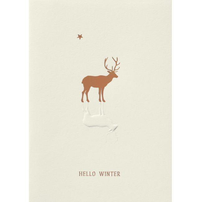 """Weihnachtszauber Karte """"Hello Winter"""""""