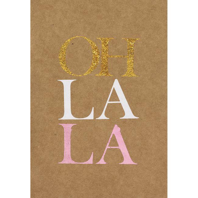 """Glanzstückkarte """"Oh la la"""""""