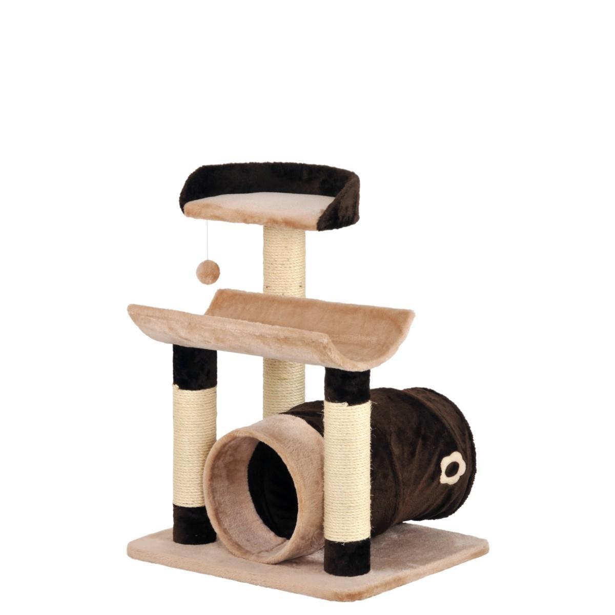 katzenbaum toy 58x49x72cm braun beige sisal pl sch kratzbaum kletterbaum. Black Bedroom Furniture Sets. Home Design Ideas