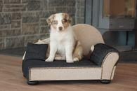 Hundesofa 39x75cm Hundebett Hundekorb Kissen waschbar Leroy beige/schwarz
