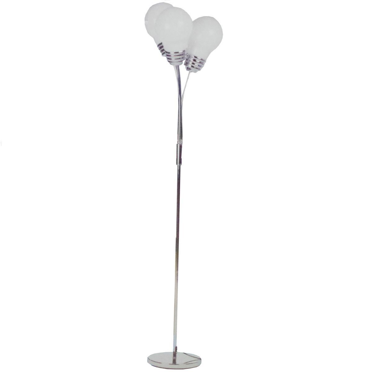 Genial Stehlampe Mit Schirm Beste Wahl Grundig 3glühlampen Schirme 148cm Weiss/chrom Standleuchte Lampe