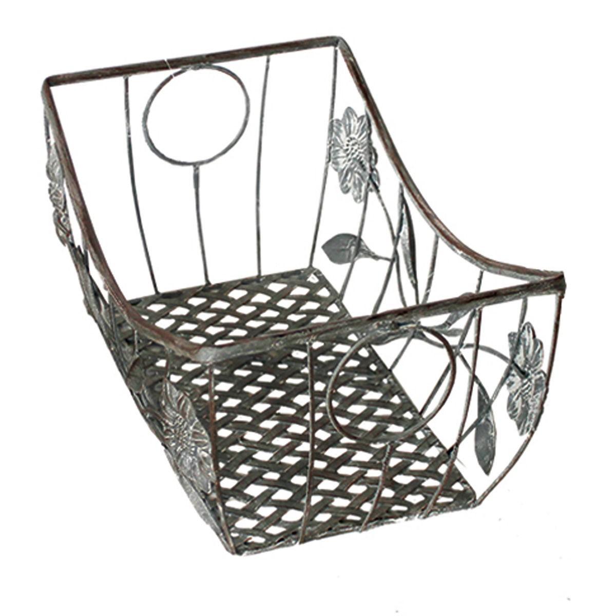 korb dekok rbe set 3tlg eckig antik grau metall dekokorb pflanzkorb korbset. Black Bedroom Furniture Sets. Home Design Ideas