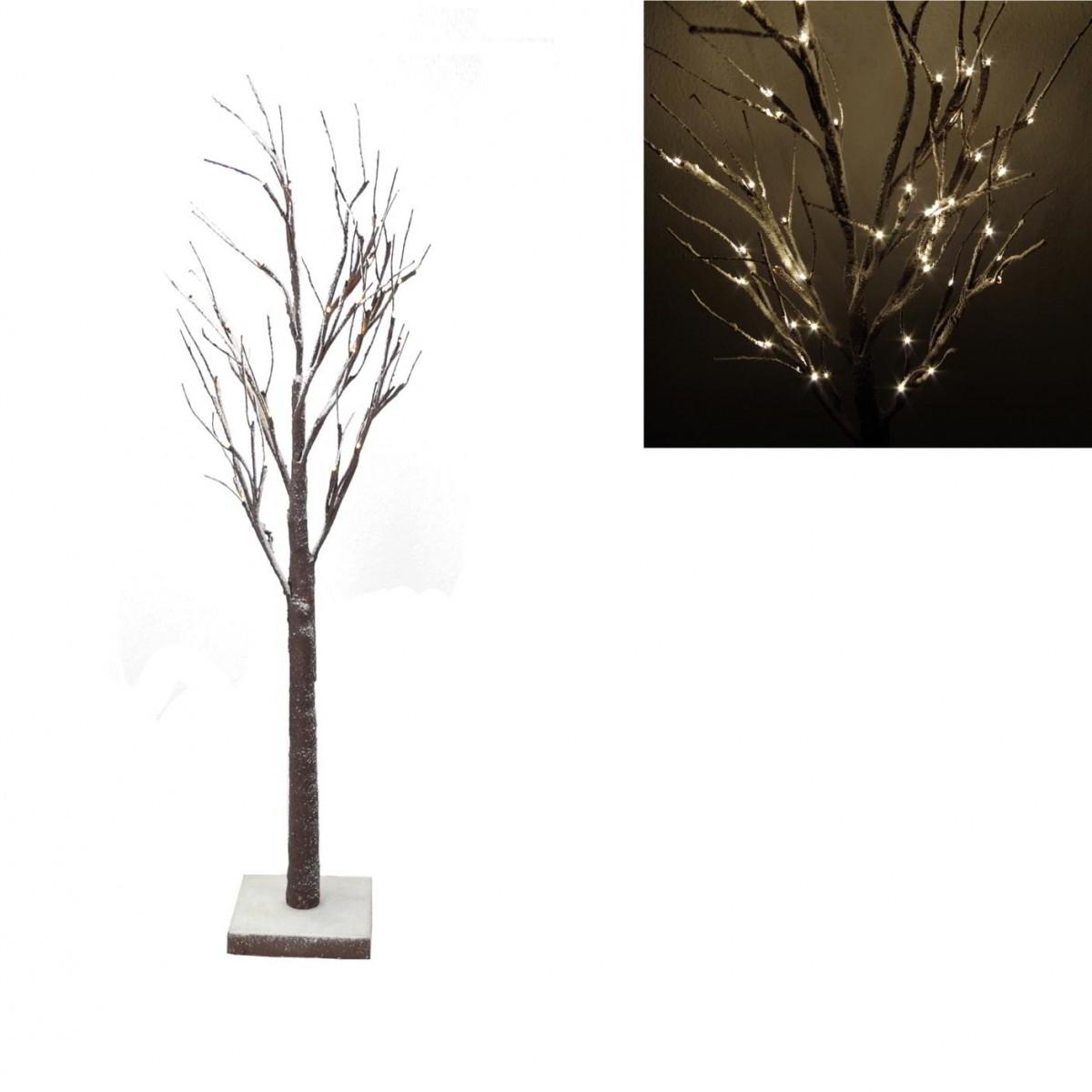 LED Lichtbaum Baum Schnee beflockt 90cm 36LED Lichterbaum Deko ...