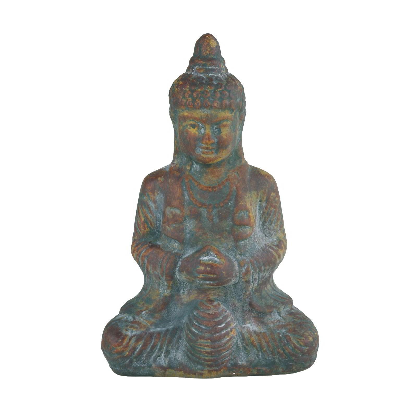 Buddha Thai Sitzend 32x21x12cm Keramik Buddhafigur Feng