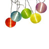 Partylichterkette Gartenlampe bunt LED Kugeln Dekorationsbeleuchtung Garten