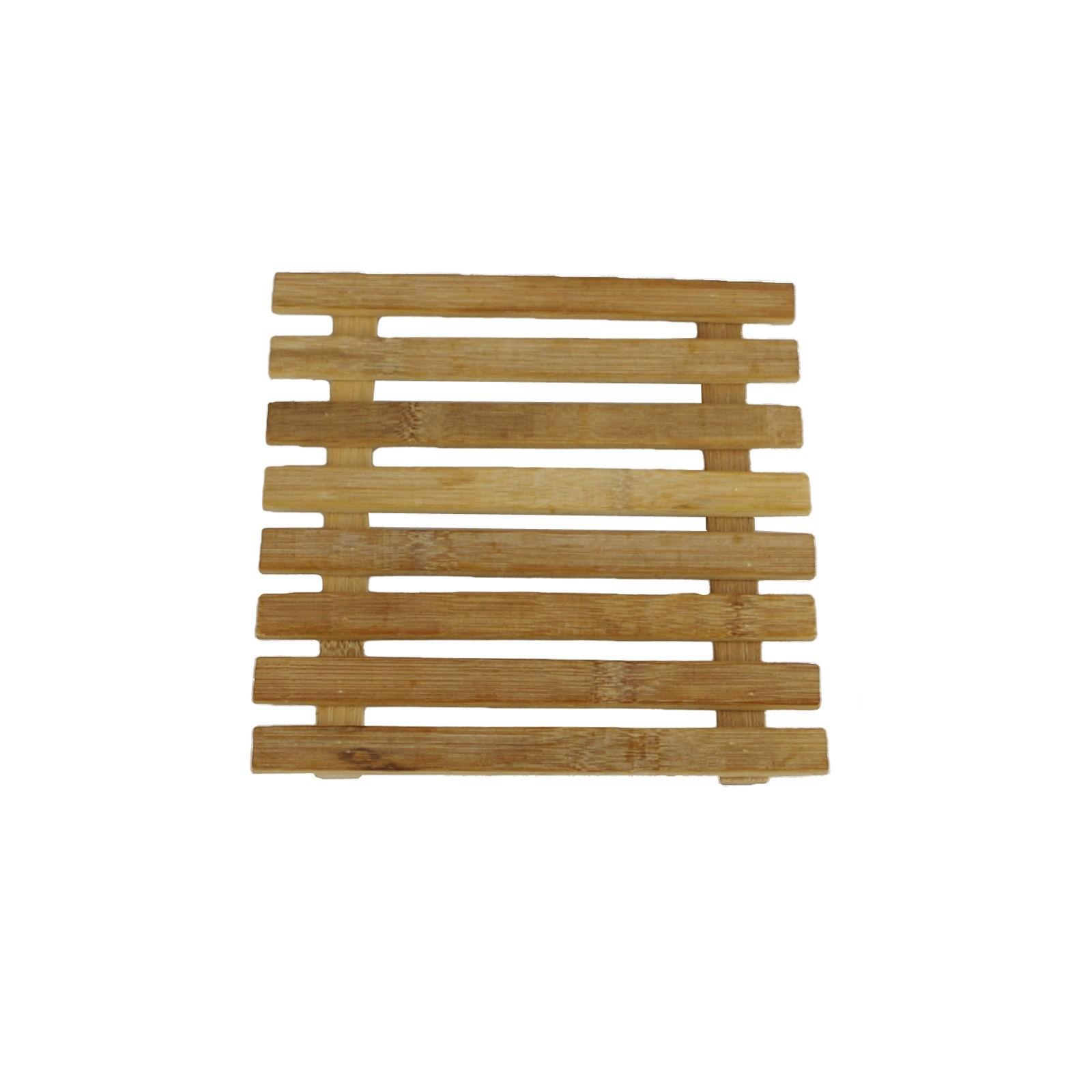 Untersetzer Tischset Bambus Braun 17 5 X 17 5 Cm Platzset Holz