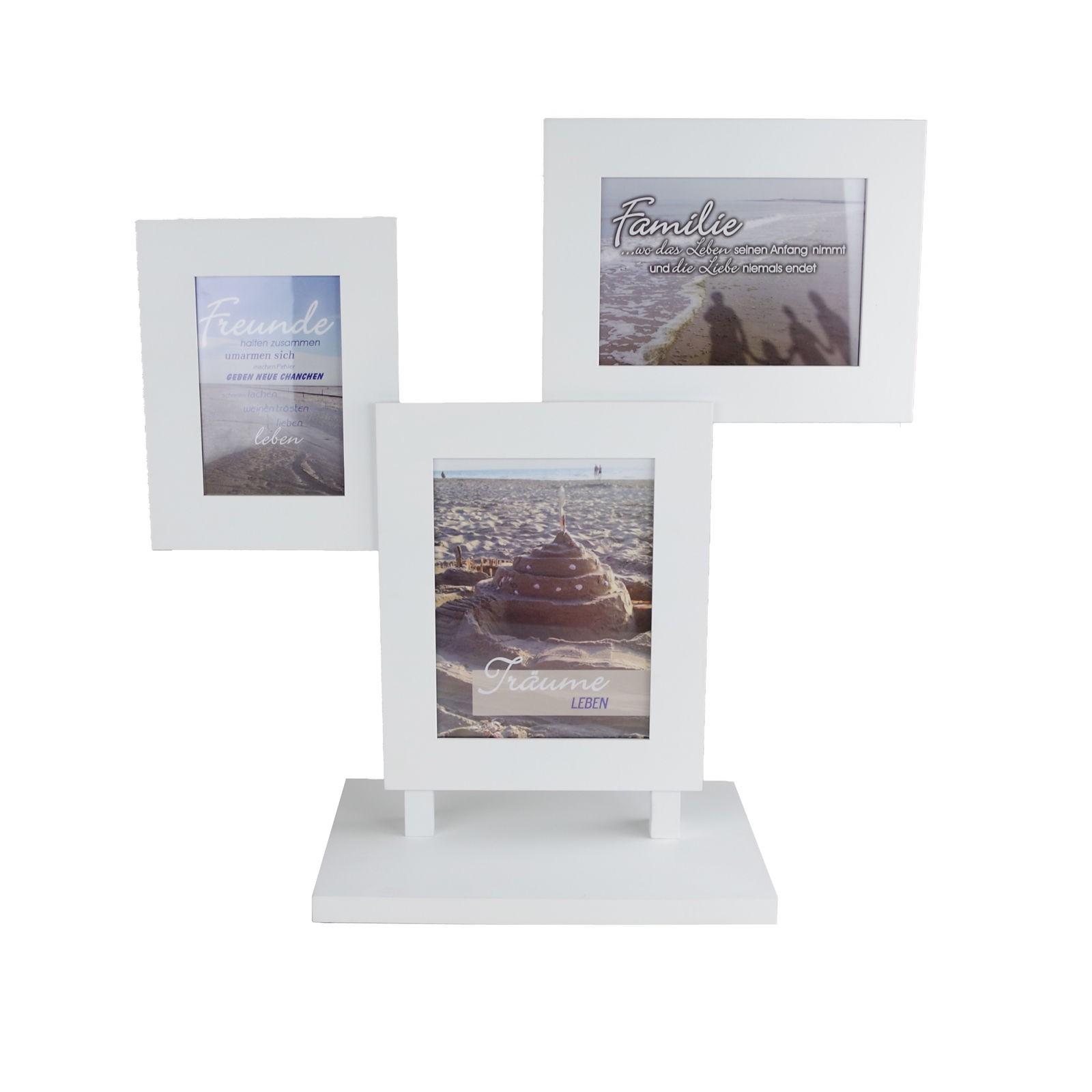 Bilderrahmen Holiday weiß Holz 3er/5er Galerierahmen Fotogalerie