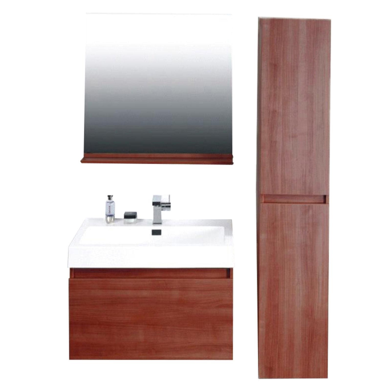 Badezimmer P603 Mahagoni Badmöbel Badezimmermöbel Spiegel Waschbecken  Schrank