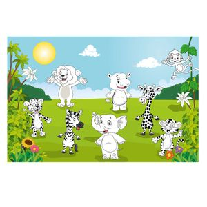 Bild Happy Animals Kinder XXL-Poster Wandbild
