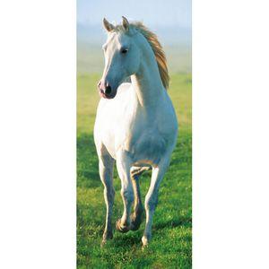 Türtapete White Horse 86x200cm 2teilig  Türdekoration Türbild Türpanel