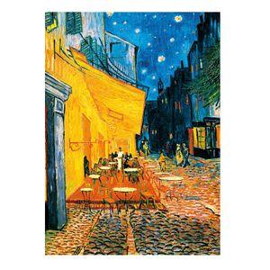 Fototapete Terrasse de Café la Nuit Tapete 4-teilig 183x254cm Bildtapete