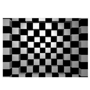 Vlies Black and White Squares Fototapete 8-teilig Tapete 366x254cm Bildtapete