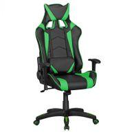 Gaming Stuhl Score Kunstleder schwarz-grün Schreibtischstuhl Drehstuhl 2Kissen
