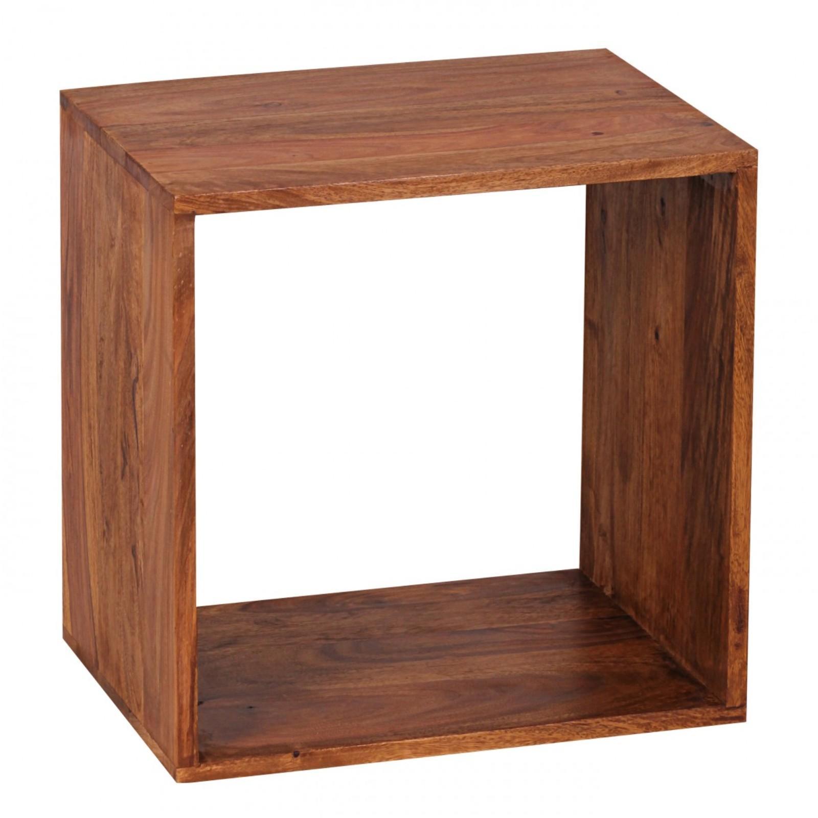 Beistelltisch Sheesham Holz Handarbeit Wurfelregal