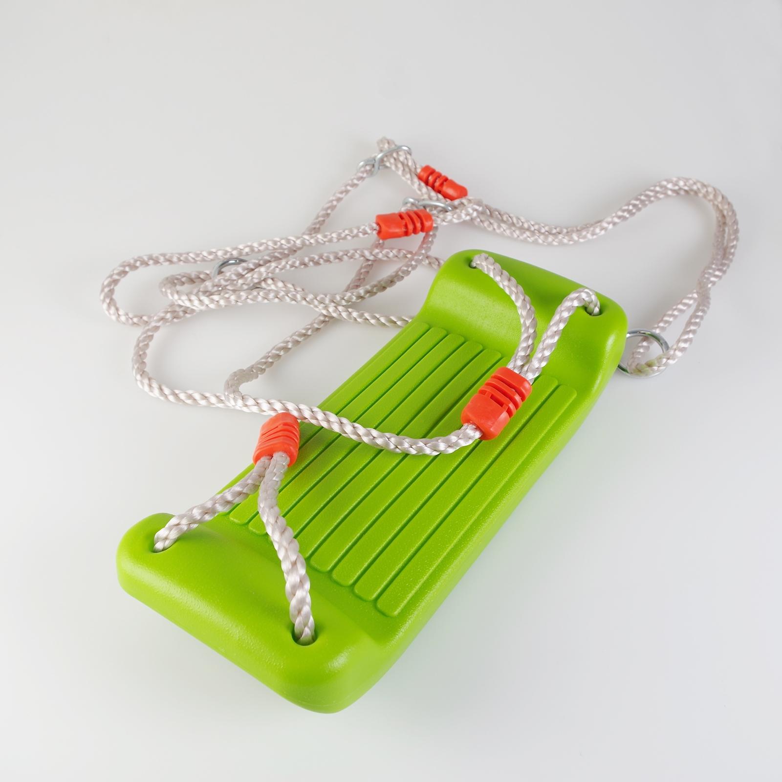 grüne Kunststoff Brettschaukel für innen und außen 38x16x19cm Schaukel