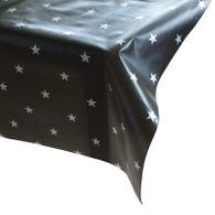 Wachstuch Star anthrazit silber Meterware Wachstuchtischdecke Tischdecke Sterne