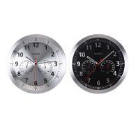 Quarzuhr Farbe wählbar Ø35cm Uhr mit Temperatur Feuchtigkeit Wanduhr Küchenuhr