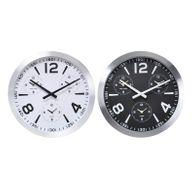 Weltuhr Ø45cm Farbe wählbar Wanduhr mit 3Weltzeiten Uhr Aluminium Büro Quarzuhr