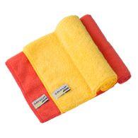 Autopflege Mikrofasertuch 2Stk 40x40cm gelb orange Trockentuch Microfaser Dunlop