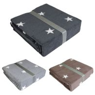 Schlafdecke Stars verschiedene Farben 150x200cm Kuscheldecke Wohndecke Decke
