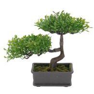 Kunst Bonsai Ficus 23x18x23cm in Schale Kunststoff künstlicher Bonsaibaum