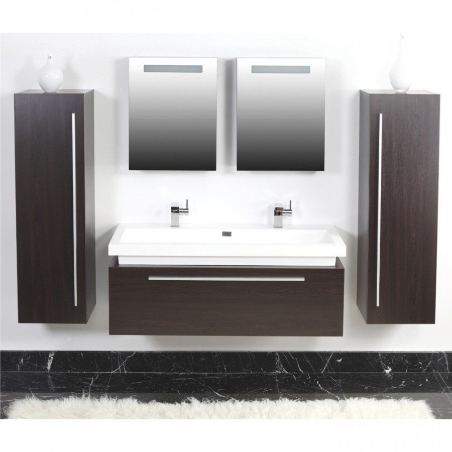 badezimmer badm bel set 5tlg wenge doppelwaschbecken spiegelschr nke. Black Bedroom Furniture Sets. Home Design Ideas