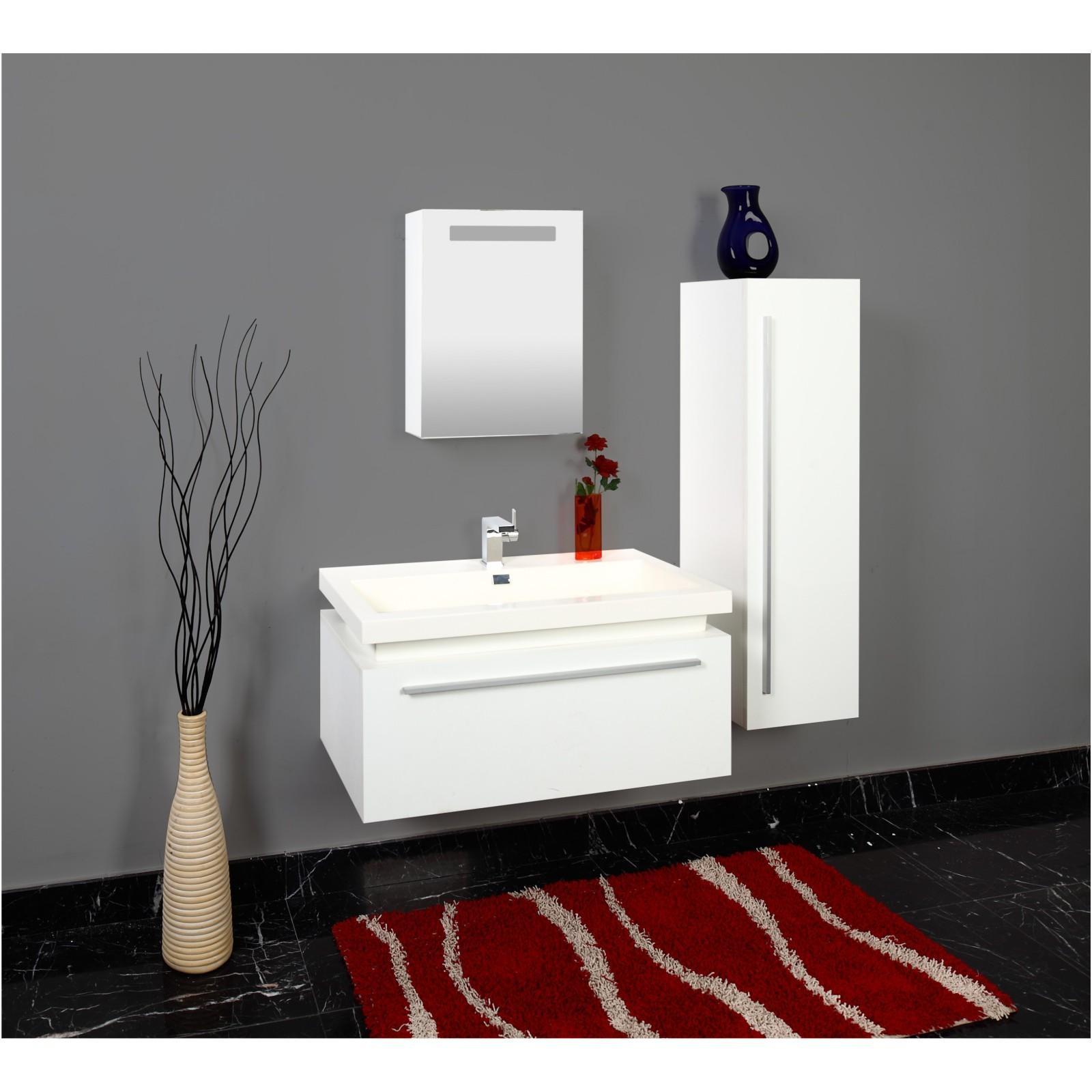 badezimmer m bel set badm bel 3tlg weiss spiegelschrank waschbecken schrank. Black Bedroom Furniture Sets. Home Design Ideas