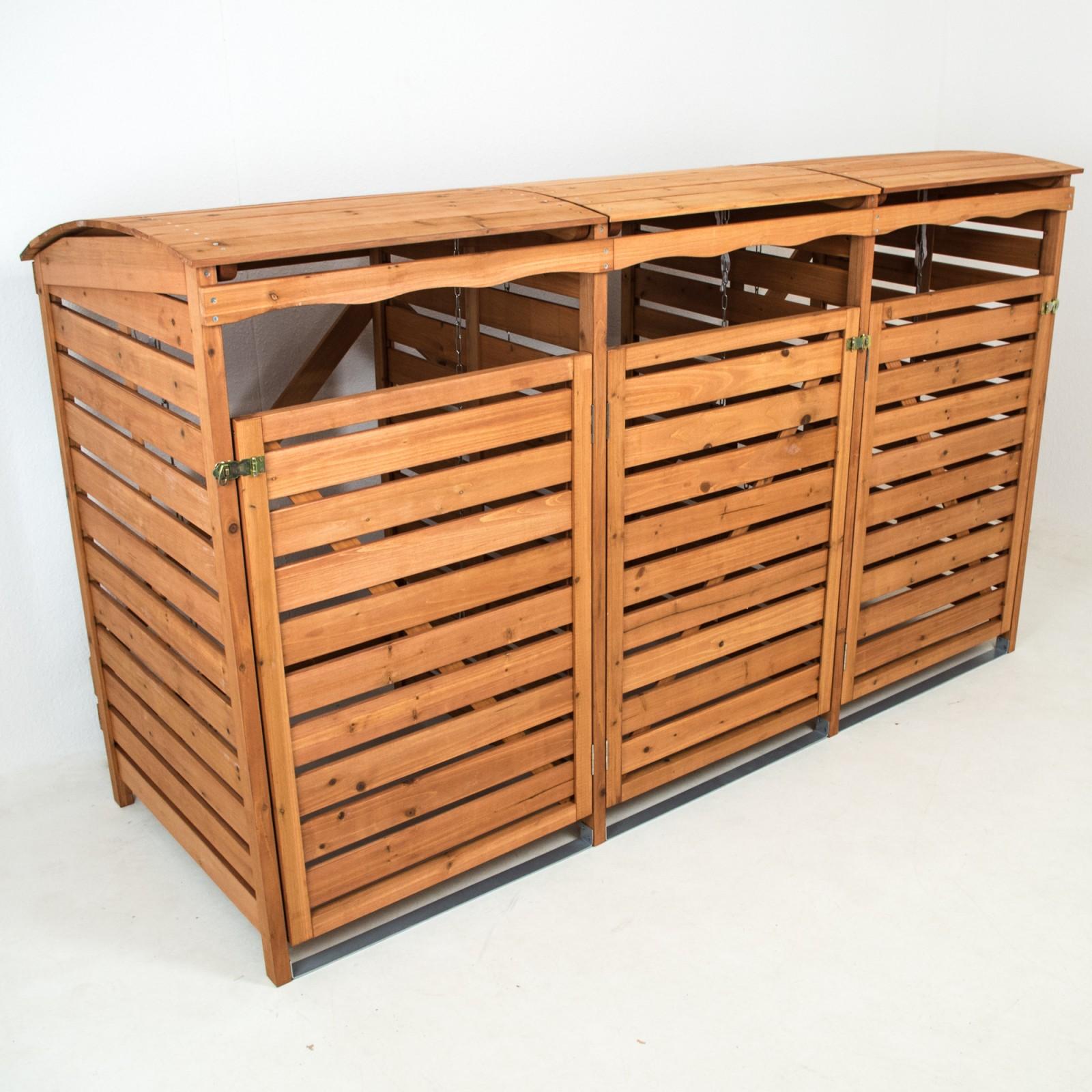 mülltonnenbox holz mülltonnenverkleidung 3mülltonnen 240l