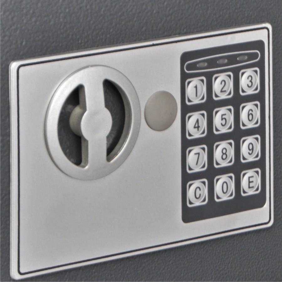 tresor safe mit elektronik zahlenschloss 31x20x20cm stahl. Black Bedroom Furniture Sets. Home Design Ideas