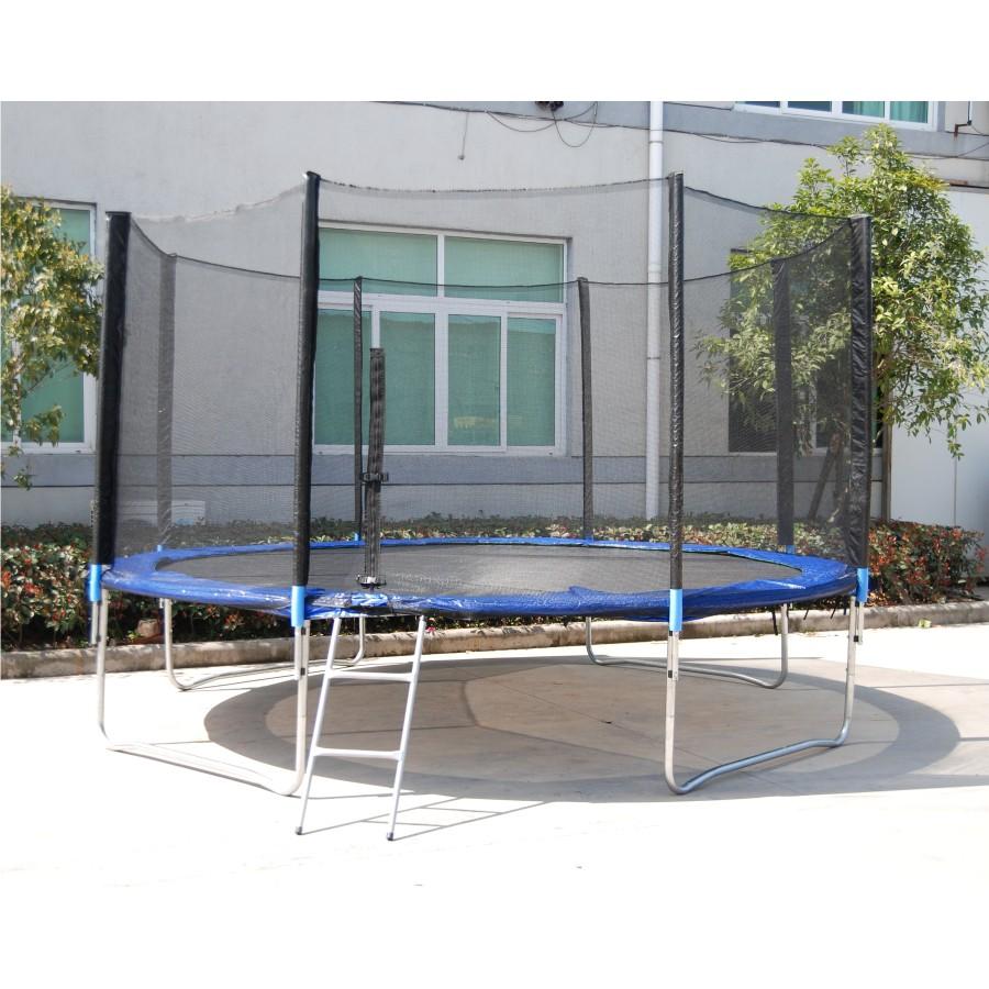trampolin xxl 4 3m 14ft gartentrampolin netz mit leiter und abdeckplane. Black Bedroom Furniture Sets. Home Design Ideas
