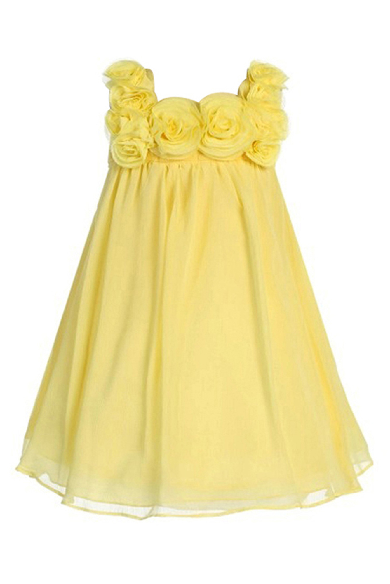 BIMARO Mädchen Kleid Leni gelb Festkleid edler Chiffon festlich ...