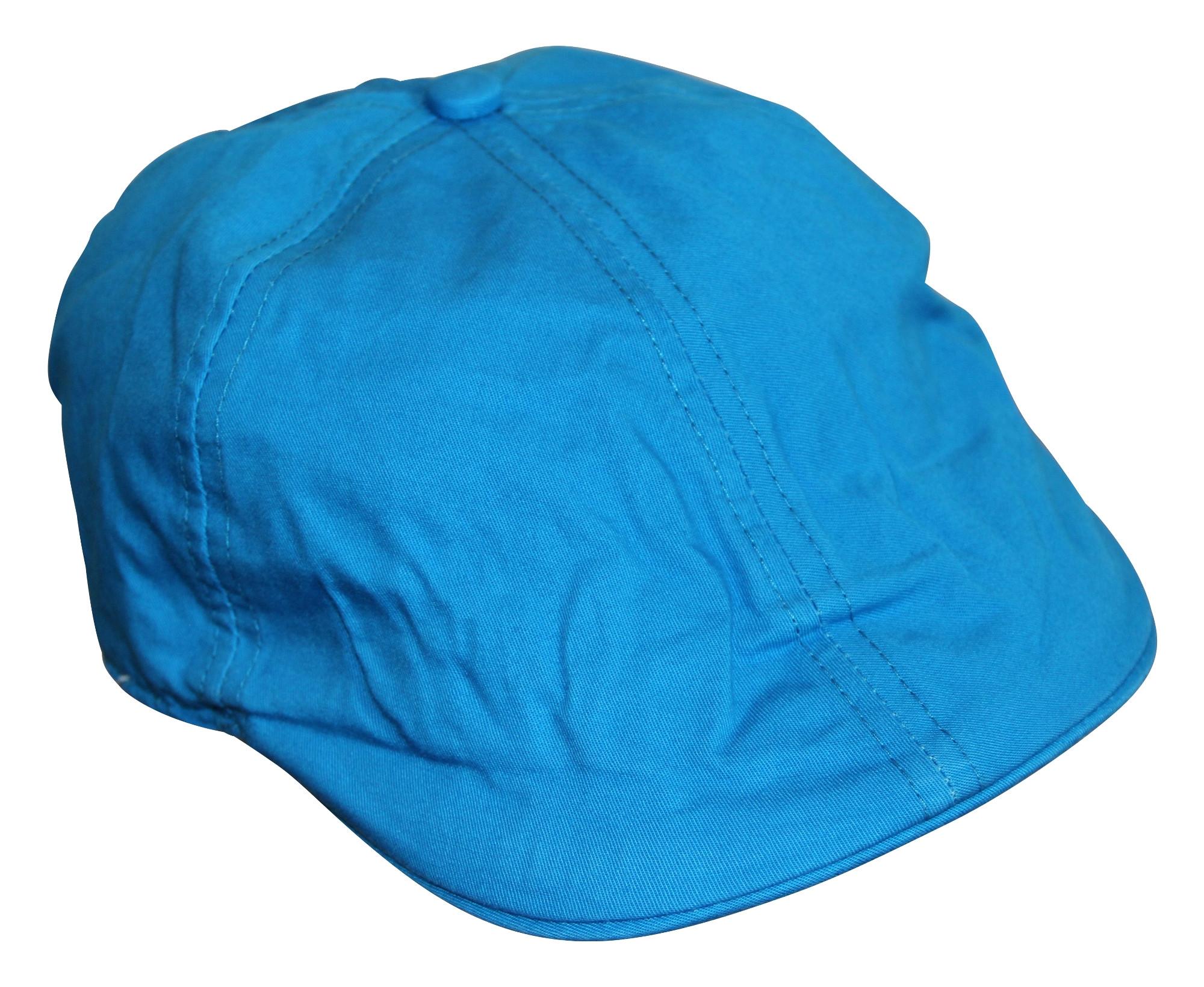 Coole Flatcap für Jungen Baby türkis blau Cap Mütze Hut 100% Baumwolle 001