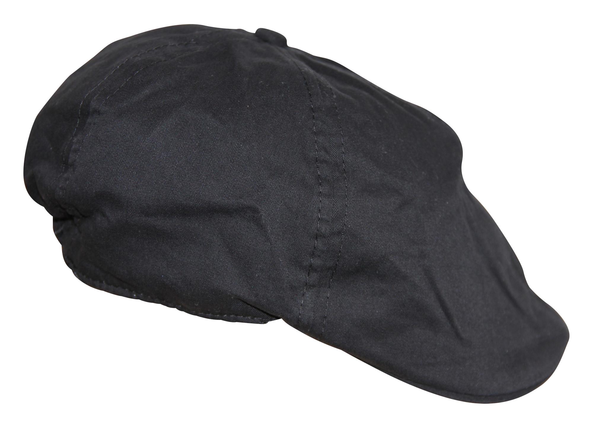 Coole Flatcap schwarz für Jungen Baby 100% Baumwolle Cap Mütze Hut 001