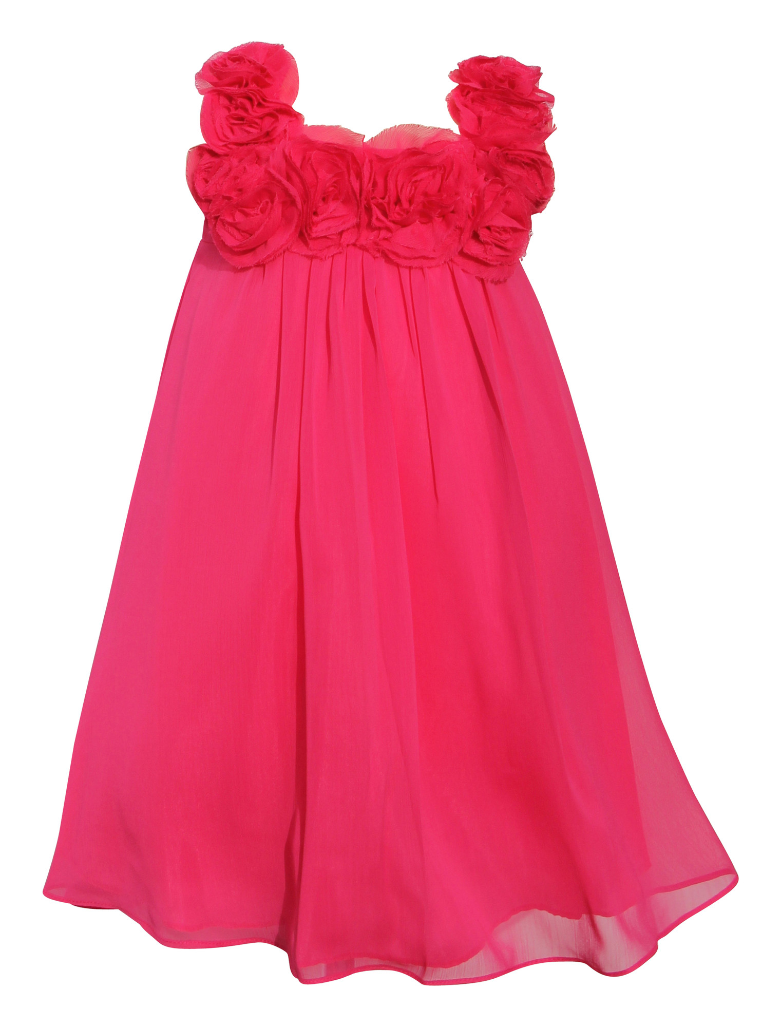 BIMARO Mädchen Kleid Leni pink rosa Festkleid edler Chiffon festlich ...