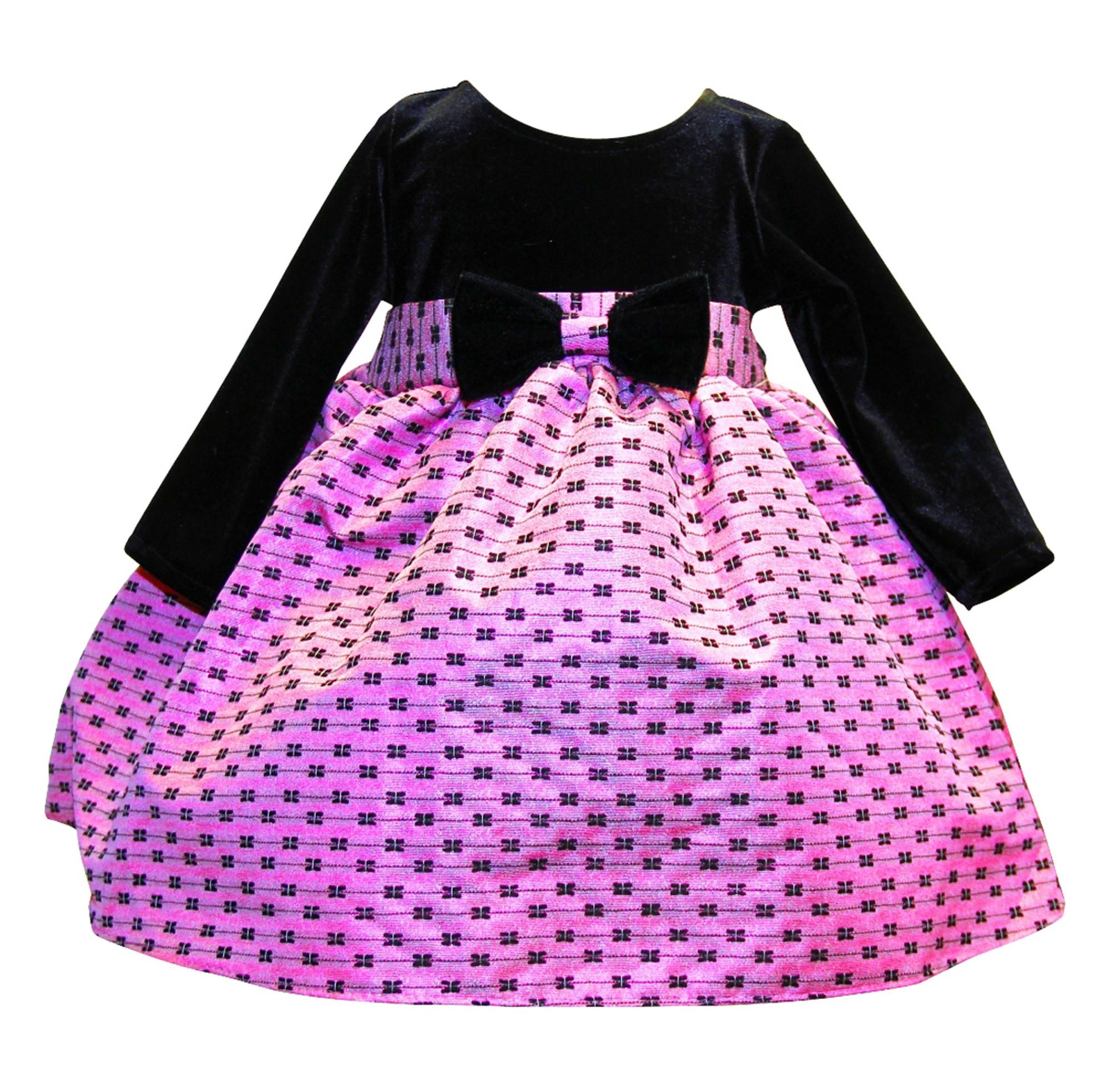 BIMARO Baby Mädchen Kleid Joelle Samtkleid Taufkleid rosa schwarz ...