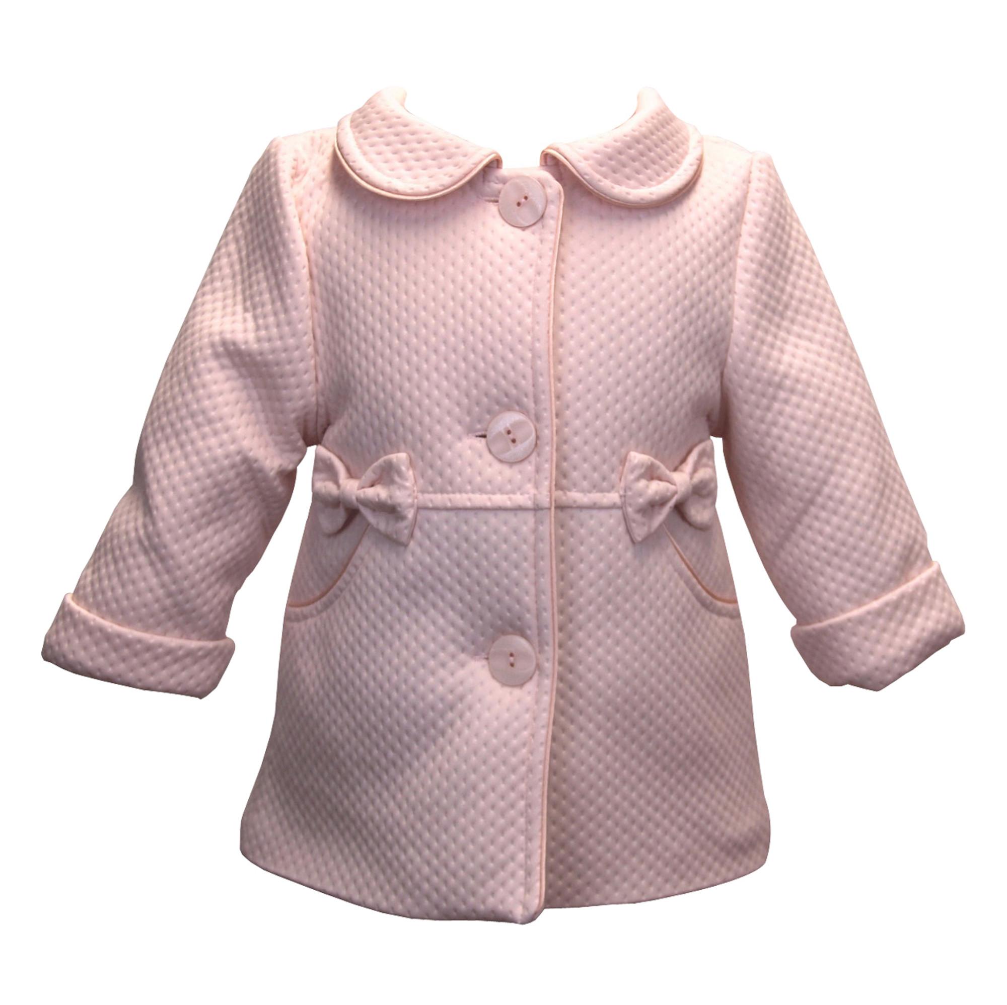 BIMARO Baby Mädchen Babymantel Lea rosa rose Taufmantel Mantel Jacke Baby Hochzeit Taufe festlich