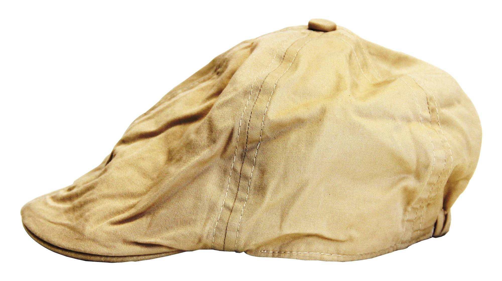 BIMARO Baby Jungen Flatcap beige sandfarben 100% Baumwolle Cap Mütze Hut