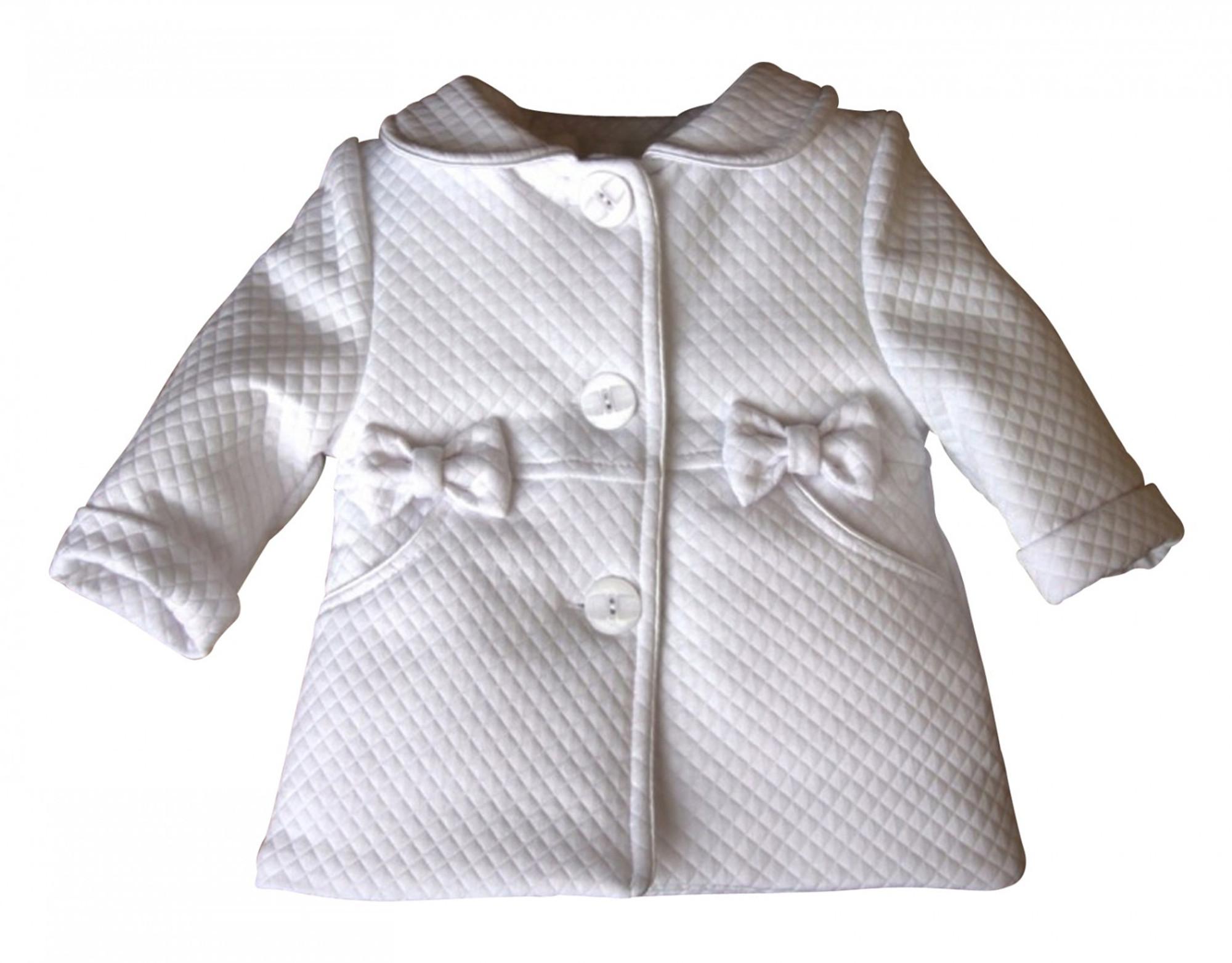 best service 8e2c8 e1f11 BIMARO Baby Mädchen Mantel Lea weiß Taufmantel Babymantel ...