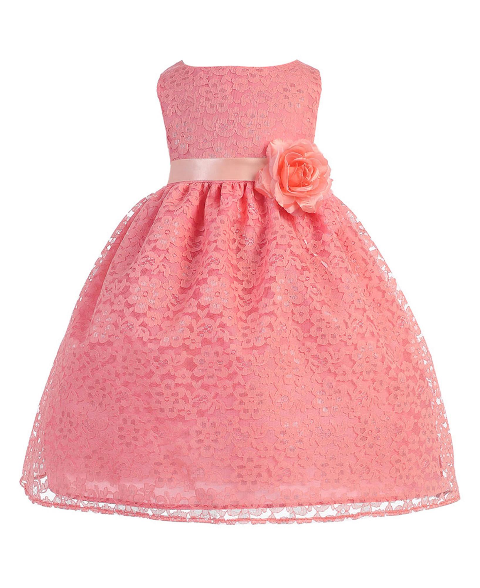 BIMARO Baby Mädchen Babykleid Nelly koralle Kleid Taufkleid ...
