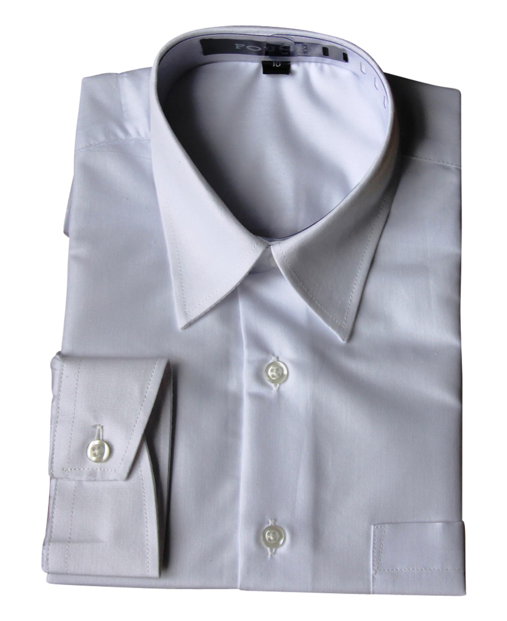 BIMARO Jungen Kinderhemd weiß slim langarm festlich  Baumwollmischung Hochzeit Kommunion Taufe 001