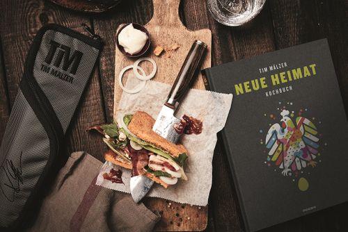 KAI Tim Mälzer Set Santoku Messer TDM-1727 + Messertasche + Kochbuch TDM-W18 – Bild 2