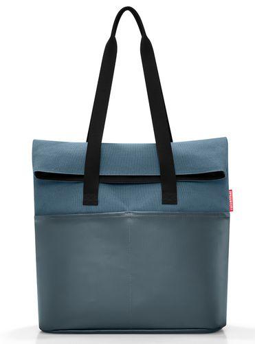 reisenthel foldbag Umhängetasche Tasche canvas blue blau UR4061 – Bild 2