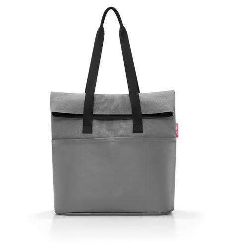 reisenthel foldbag Umhängetasche Tasche canvas grey grau UR7050 – Bild 2