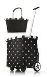 reisenthel Set carrycruiser + carrybag Trolley Einkaufskorb dots schwarz OE7009 + BK7003 001