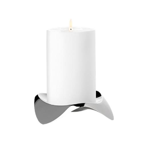 STELTON Papilio Uno Kerzenhalter Stumpenkerzenhalter Kerzenständer Edelstahl X-39