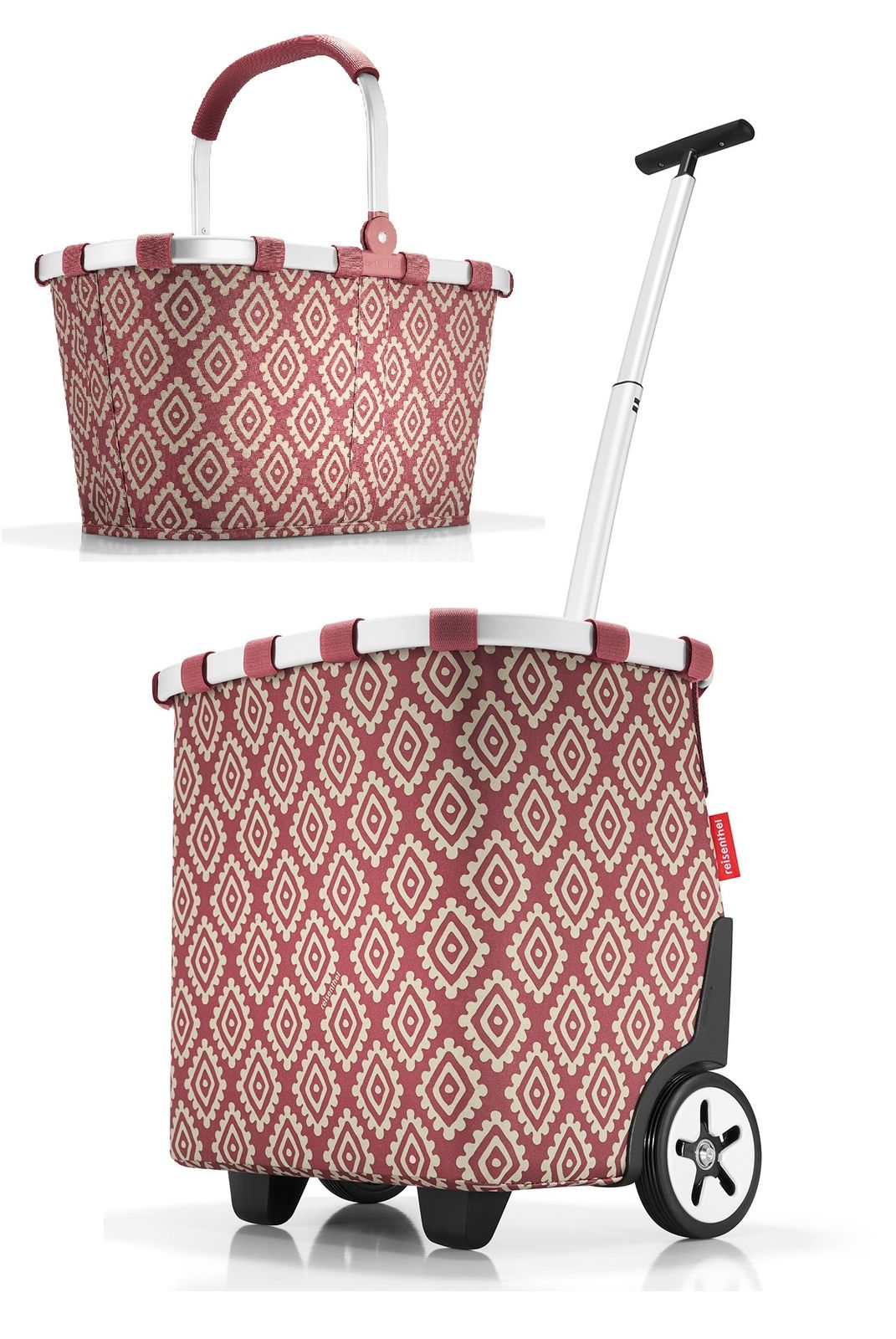 Körbe Möbel & Wohnen Reisenthel Carrycruiser Diamonds Rouge Cruiser 40 L Trolley Shopper Einkaufskorb